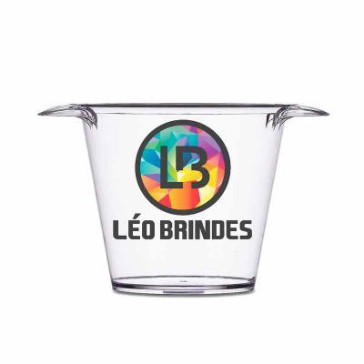 Leo Brindes Personalizados - Balde de Gelo Personalizado acrílico