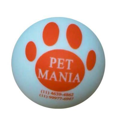 Leo Brindes Personalizados - Bolinha para pet personalizada é também uma bolinha anti stress que ajuda nas brincadeiras com o seu pet.  Produto Atóxico   Personalizado em 1 cor