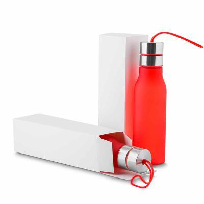 Qmais Promo - Garrafa plástica 600 ml com filtro, alça de silicone e tampa de metal, plástico utilizado PC (policarbonato) Dimensão Produto: 25,0xø6,4x21cm  Peso do...