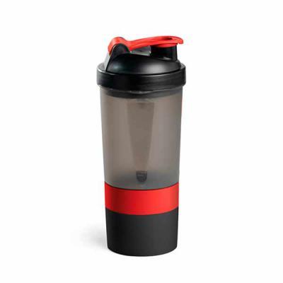 Qmais Promo - Shaker PP e PE  Com 2 compartimentos para guardar suplementos adicionais (320 ml e 150 ml).  Com escala de medição até 500 ml/16 ft oz.  Capacidade: 6...