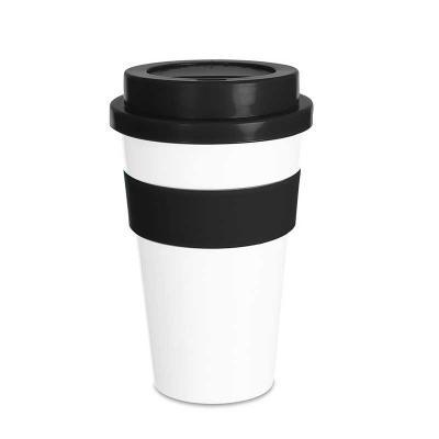 Qmais Promo - Copo Plástico Café 480ml com Luva de Silicone