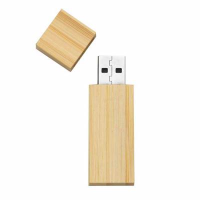 Mathias Promocionais - Pen drive 4GB de bambu com tampa de imã, frente e verso lisos.  Medidas aproximadas para gravação (CxL):  4 cm x 1,7 cm  Tamanho total aproximado  (Cx...