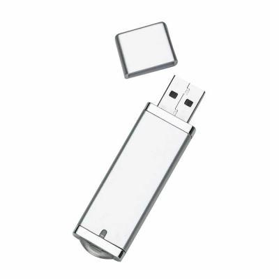 Mathias Promocionais - Pen drive Super Talent 4GB/8GB em plástico resistente, copo cinza com detalhes prata. Possui tampa e ao conectar no USB uma luz irá acender na parte i...
