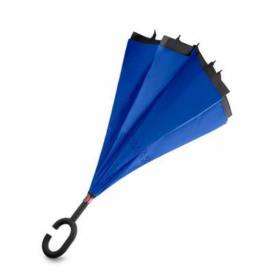 Nazartes Brindes - Guarda-chuva invertido com cabo plástico e haste de metal, botão acionador para abertura automática, tecido ponge chinês, seda crua poliéster, oito va...
