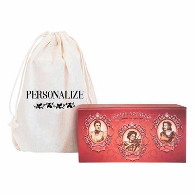 De La Merche - Coleção de sabonetes vintage de luxo em sacolinhas de algodão cru com estampa personalizada. O presente perfeito para surpreender e encantar seus clie...