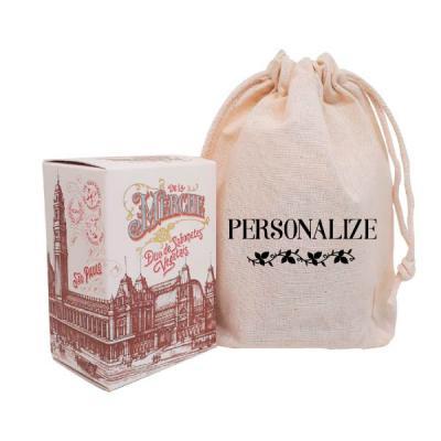 De La Merche - Caixinha de sabonetes vintage de luxo em sacolinhas de algodão cru com estampa personalizada. O presente perfeito para surpreender e encantar em event...