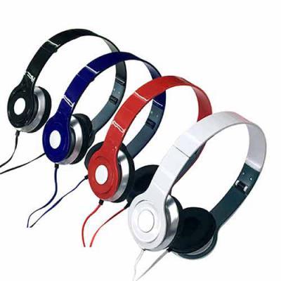 Labor Brindes - Fone de ouvido estéreo articulável, protetor em couro sintético com espuma e material plástico inteiro colorido com detalhes prata. Headfone de hastes...