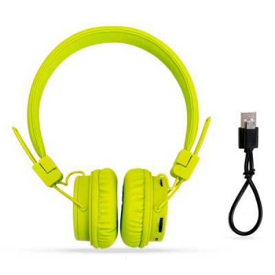 EV Brindes - Headfone wireless colorido com haste ajustável e fones dobráveis. Acompanha cabo USB e manual de instruções. (Consulte gravação de acordo com o materi...