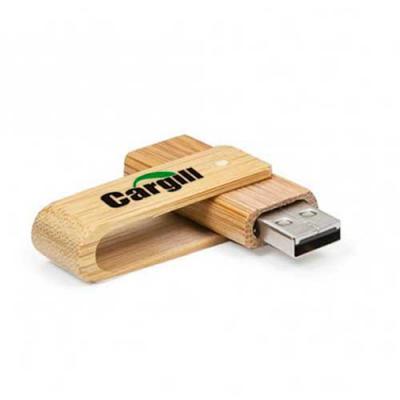 EV Brindes - Pen drive Bambu. Capacidade: 16GB. Medida: 59 x 19 x 12 mm (Consulte gravação de acordo com o material escolhido)    A EV Brindes é uma empresa especi...