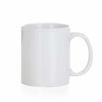 EV Brindes - Caneca cerâmica de 300ml branca, ideal para sublimação. Medidas aproximadas para gravação (CxL):  9,3 cm x 6 cm  Tamanho total aproximado  (CxL):  9,7...