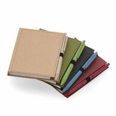 ArtPromo - Bloco de anotações com capa dura com sticky notes