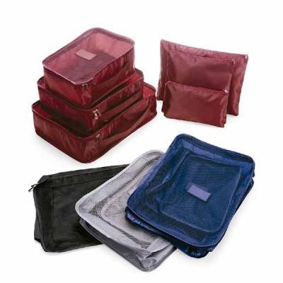 ArtPromo - Kit necessaire com 6 peças confeccionadas em nylon. O conjunto de necessaires possui tamanhos diferenciados, sendo 3 unidades com: alça para transport...