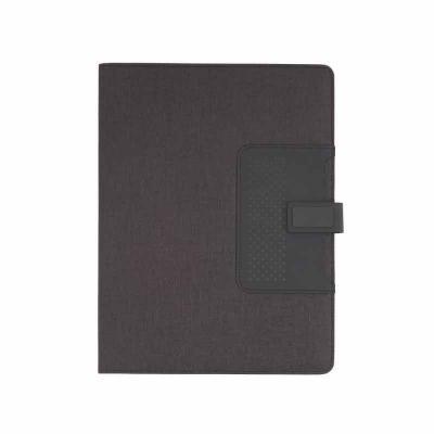 ArtPromo - Caderno de anotações com suporte para caneta, fechamento magnética, capa dura em material sintético, miolo 80 folhas pautadas na cor bege. NÃO ACOMPAN...