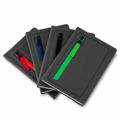 ArtPromo - Caderno de anotações com porta objetos na capa