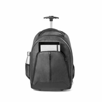 ArtPromo - Mochila trolley para notebook. 600D de alta densidade e poliéster 600D impermeável. Para notebook até 15.6''. Bolso frontal com zíper e bolsos laterai...