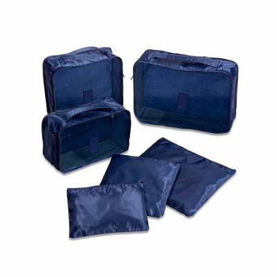 Personalite Brindes - Kit necessaire com 6 peças confeccionadas em nylon. O cojunto de necessaires possui tamanhos diferenciados, sendo 3 unidades com: alça para transporte...