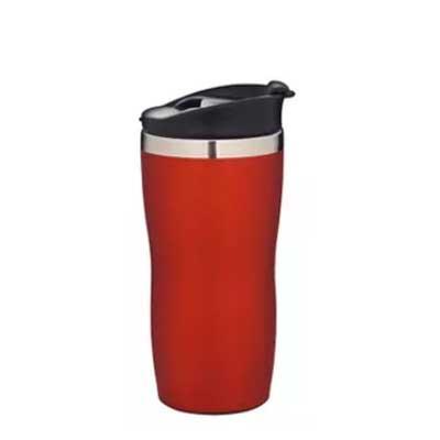 Genialle Brindes & Personalizados - Copo aço inox com tampa de rosca em polipropileno. Possui borracha interna para evitar vazamentos e seu bico na parte superior confere praticidade e e...