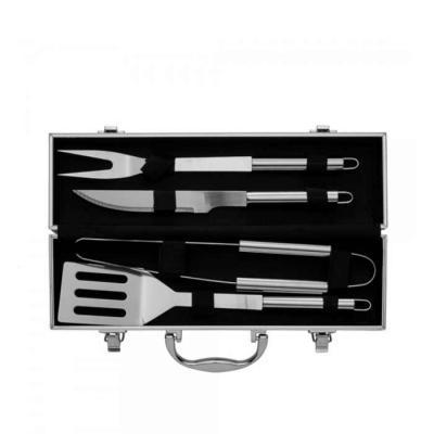 Genialle Brindes & Personalizados - Kit Churrasco 4 peças em maleta de alumínio