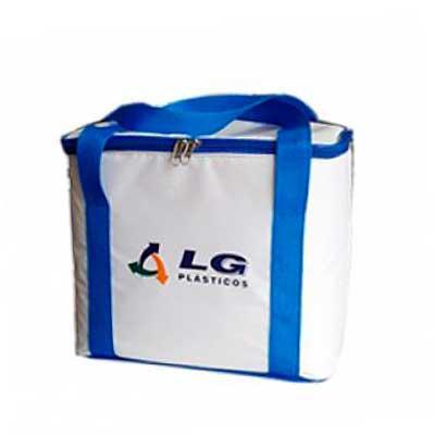 Genialle Brindes & Personalizados - Bolsa térmica com forramento Medidas: Altura: 25cm Largura: 27cm Profundidade: 21cm