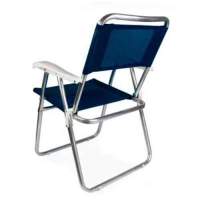 Genialle Brindes & Personalizados - Cadeira Master Alumínio Tela Sannet Azul  sua tela em 100 % poliéster com revestimento em PVC  suporta até 120 kg
