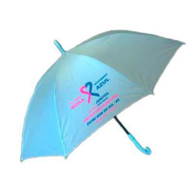 Genialle Brindes & Personalizados - Guarda-chuva colorido com tecido de nylon e abertura automática, basta acionar o botão inferior. Possui 8 varetas pretas de aço, pegador e bico superi...