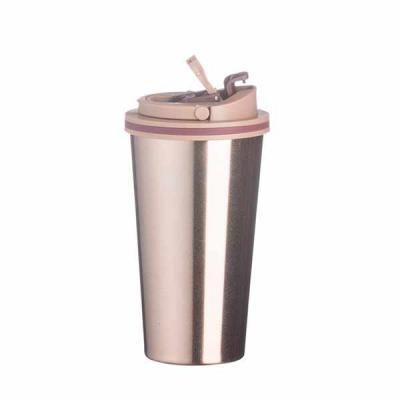 WXZ BRINDES FABRICAÇÃO  PRÓPRIA - Copo de metal 450ml com tampa. Copo com parte inferior emborrachada antideslizante, tampa rosqueável com alça para transporte e alavanca para abertura...