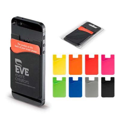 WXZ BRINDES FABRICAÇÃO  PRÓPRIA - Adesivo porta cartão para celular, basta remover o selo traseiro e colar a parte adesivada no celular. Material emborrachado leitoso. Medidas aproxima...