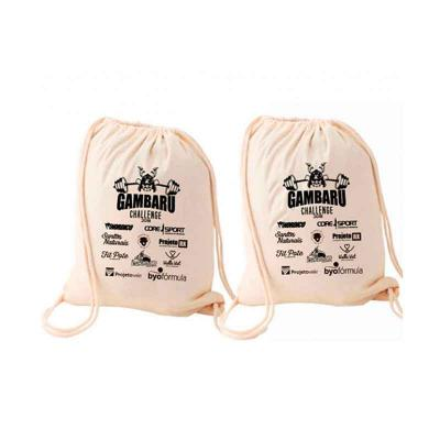 WXZ BRINDES - Mochila saco personalizada Material: algodão cru Gravação: silk