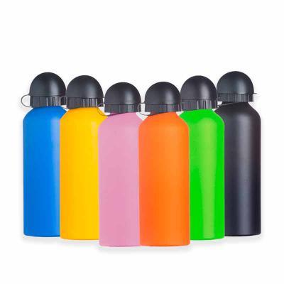 WXZ BRINDES FABRICAÇÃO  PRÓPRIA - Squeeze de alumínio 500ml com pintura fosca, tampa de bico rosqueável(não é térmico). Altura :  21,3 cm Largura :  6,6 cm Circunferência :  20,8 cm Me...