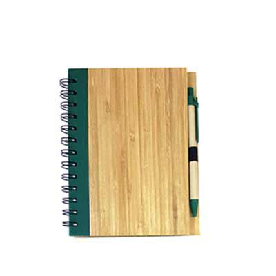 WXZ BRINDES FABRICAÇÃO  PRÓPRIA - Caderno ecológico Bambu com caneta
