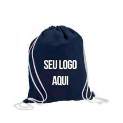 WXZ BRINDES FABRICAÇÃO  PRÓPRIA - Saco mochila personalizada Material: Nylon, TNT , oxford Gravação: Silk