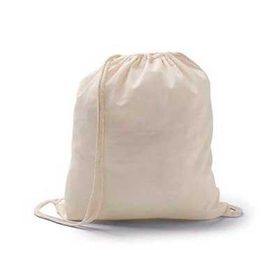 WXZ BRINDES FABRICAÇÃO  PRÓPRIA - Sacola tipo mochila. Material: Algodão. GRAVAÇÃO: SILK OU SUBLIMAÇÃO CASO QUEIRA UMA AMOSTRA VIRTUAL ENVIE SUA LOGO