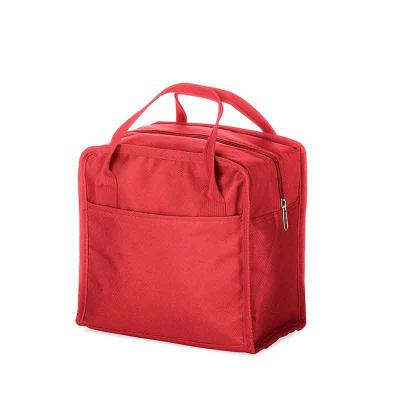 P&J Brindes - Bolsa térmica 7 litros em nylon com dois bolsos externos nas laterais, alça para mãos e revestimento interno térmico. Acompanha plaquinha para persona...
