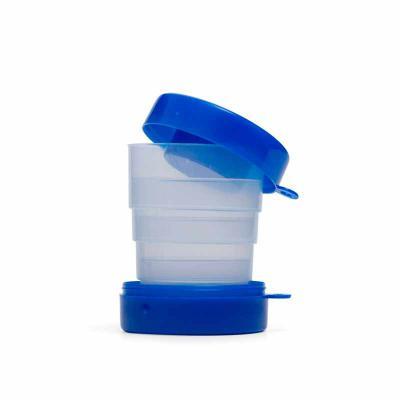 P&J Brindes - Copo retrátil 200ml de plástico com tampa porta comprimido
