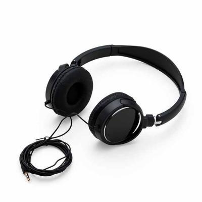 P&J Brindes - Headphone estéreo, plástico resistente com haste ajustável e fone giratório. Entrada P2, impedância 32_-+10%, sensitividade 105 dB -+ 3 dB S.P.L em 1...