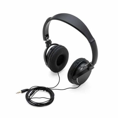 P&J Brindes - Descrição: Headphone estéreo, plástico resistente com haste ajustável e fone giratório. Entrada P2, impedância 32_-+10%, sensitividade 105 dB -+ 3 dB...