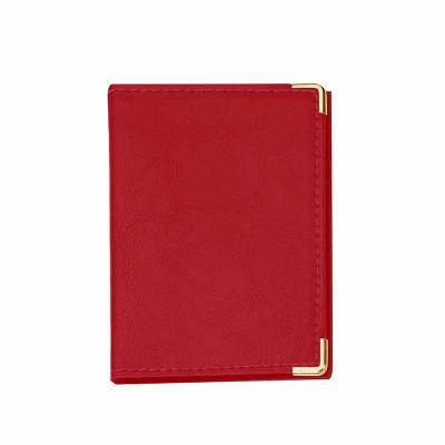 P&J Brindes - Porta documento em couro sintético com cantoneira dourada ou prata, possui 4 divisórias plásticas grande e duas divisórias pequenas.