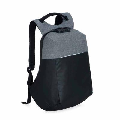 P&J Brindes - Mochila anti-furto com cadeado de segredo. Material poliéster com detalhes em nylon, possui formato anatômico e design moderno, tem a parte frontal à...