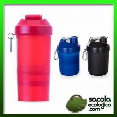 Sacola Ecológica.COM - Coqueteleira 400ml Porta Suplementos