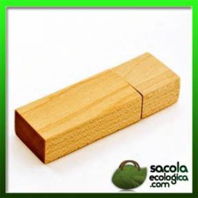 Sacola Ecológica.COM - Pen Drive de Madeira para Brindes