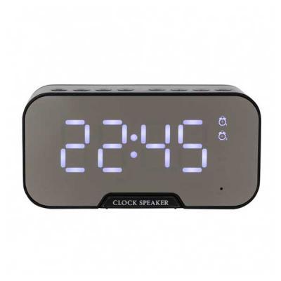 Italy Brindes - Caixa de som multimídia com relógio despertador e suporte para celular. Produzida em plástico e com borrachas antiderrapantes na área inferior, a caix...