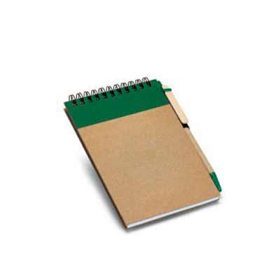 Italy Brindes - Caderno Cartão capa dura