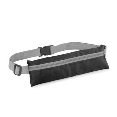 Conecta Brindes - Bolsa de cintura. 210D ripstop. Com saída para fone de ouvido. 250 x 80 mm