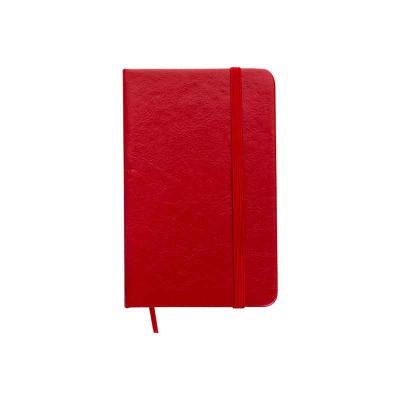 Clark Brindes e Presentes Promocionais - Caderneta em couro sintético de frente e verso liso, marcador de página em cetim e fita elástica para fechar. Contém aproximadamente 80 folhas amarela...