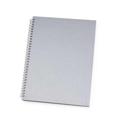 Clark Brindes e Presentes Promocionais - Caderno executivo com pintura texturizada e wire-o prata