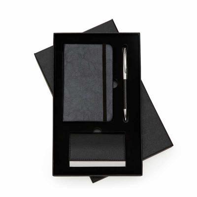 Clark Brindes e Presentes Promocionais - Kit Executivo com caderneta, caneta de metal e porta cartão
