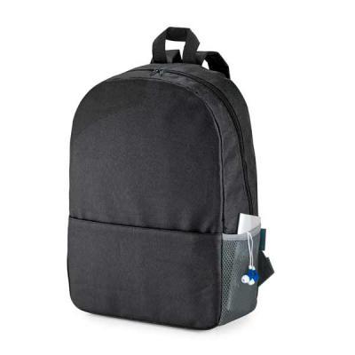 SMR BRINDES - Mochila para notebook. 600D. Compartimento com divisória almofadada para notebook até 15.6''. Bolso lateral em tela e bolso frontal. Parte posterior e...