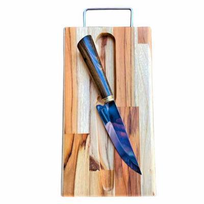 Facas Iraí - Faca M (cabo em madeira) com tábua em madeira teca   Até 100 unidades R$ 70,00  Acima de 100 unidades R$ 60,00