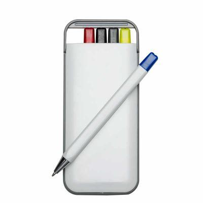 MarkhaBrasil Brindes Personalizados - Kit 5 em 1 branco em plástico