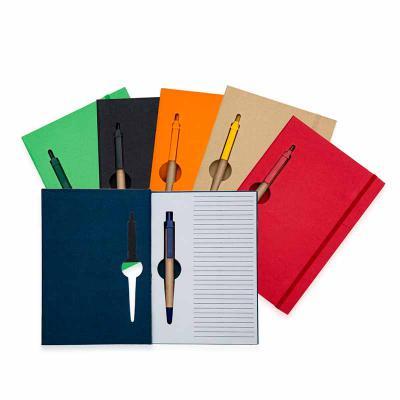 MarkhaBrasil Brindes Personalizados - Bloco de anotações ecológico colorido com caneta